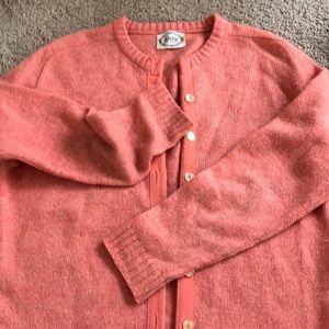 Vintage 100% wools sweater Deyom Brand peach